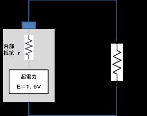 開放状態でのテスター(電圧計)接続